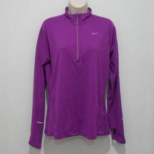 NIKE DRI FIT RUNNING Shirt Reflective Zip 1996